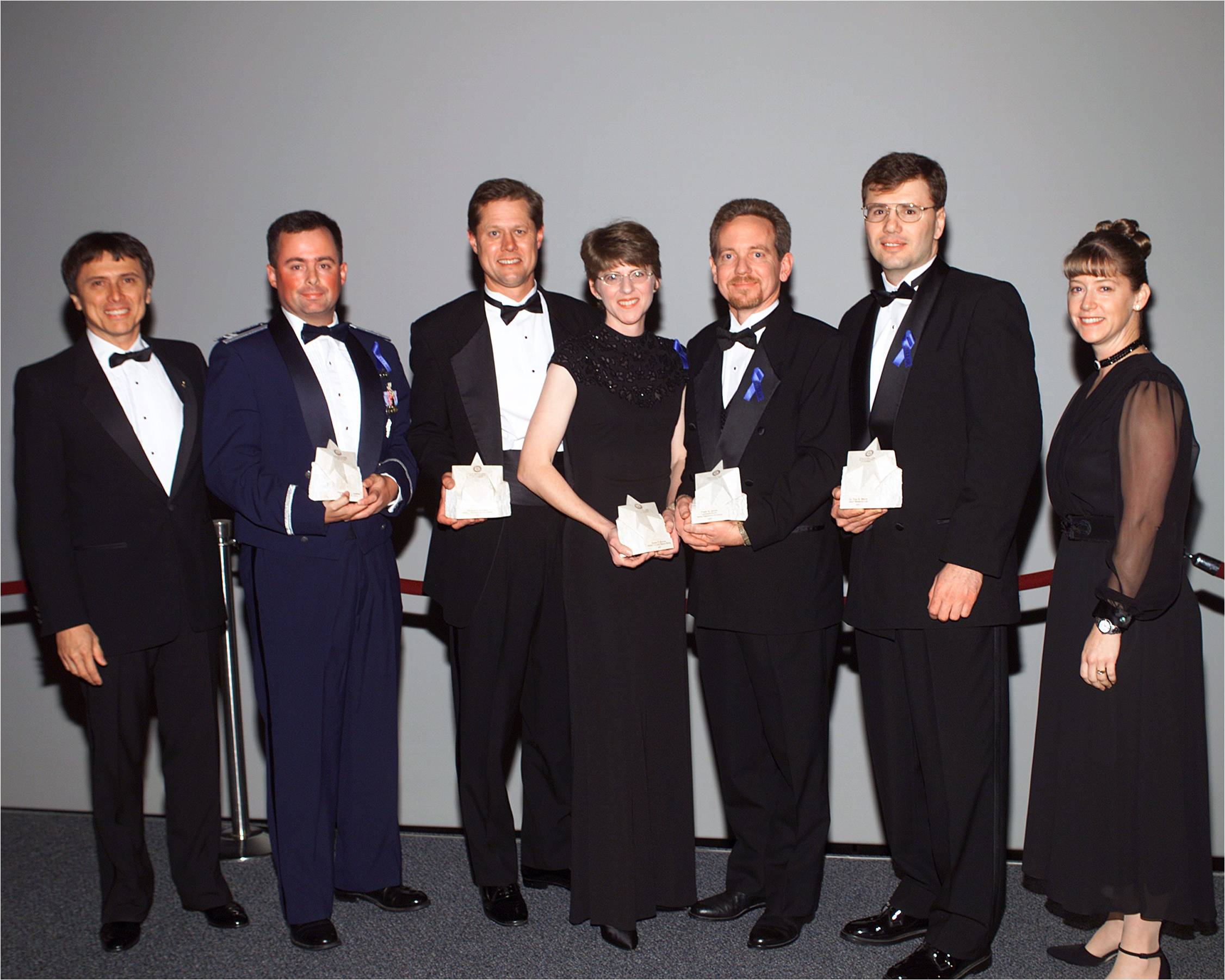 2001 Stellar Early Category Winners with Dr. Franklin Chang-Diaz and Lt. Col. Pam Melroy
