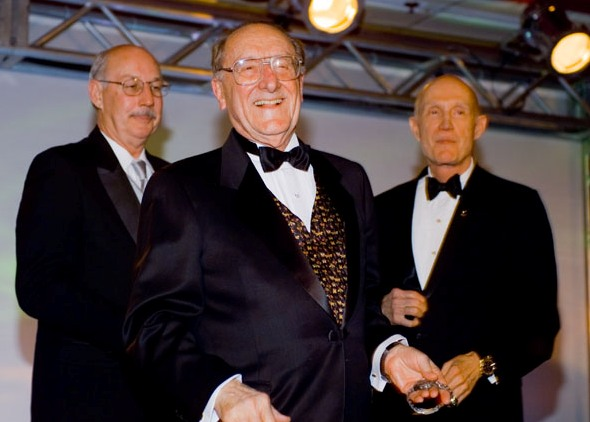 George Mueller with Roy McCharen (left) and Tom Stafford (right)