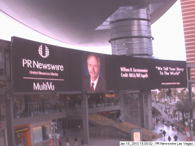 Clear Channel sign in Las Vegas of Bill Gerstenmaier