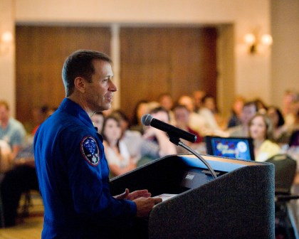 Capt. Gregory C. Johnson, USN (Ret.), STS-125 (Hubble) pilot - featured Stellar luncheon speaker