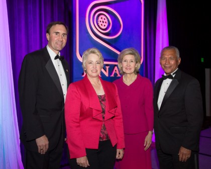 Congressman Olson, Mayor Parker, NST Winner Hutchison, NASA Admin. Bolden