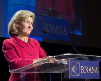 Hon. Kay Bailey Hutchison accepts applause.
