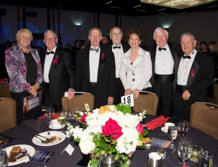 Head table 18, L to R: Marilyn & Glynn Lunney, Mike Griffin, Floyd & Carolyn Bennett, Clay Boyce, Arnold Aldrich.