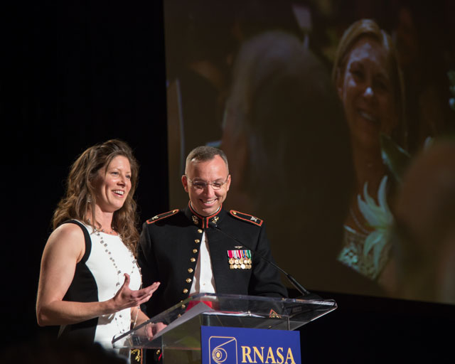 Astronauts Tracy Caldwell Dyson and Randy Bresnik announce Stellar winners